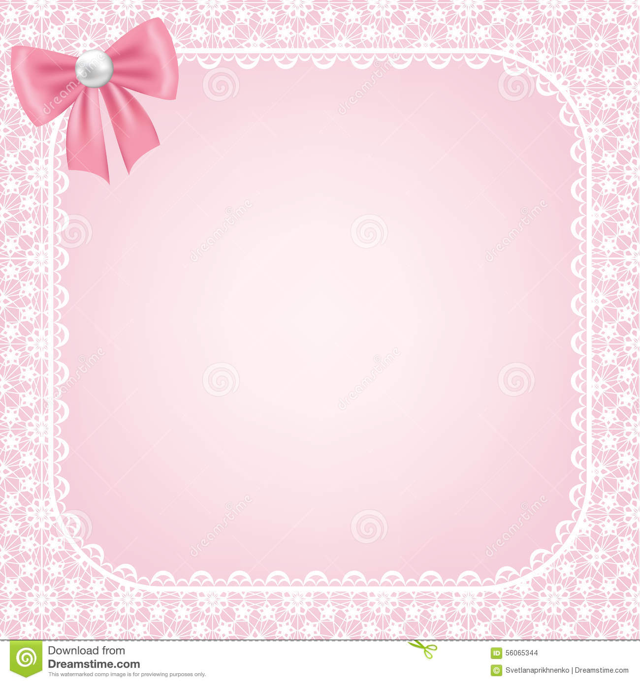 Pink Wedding Cards Background Lace Frame On Pink Bac...