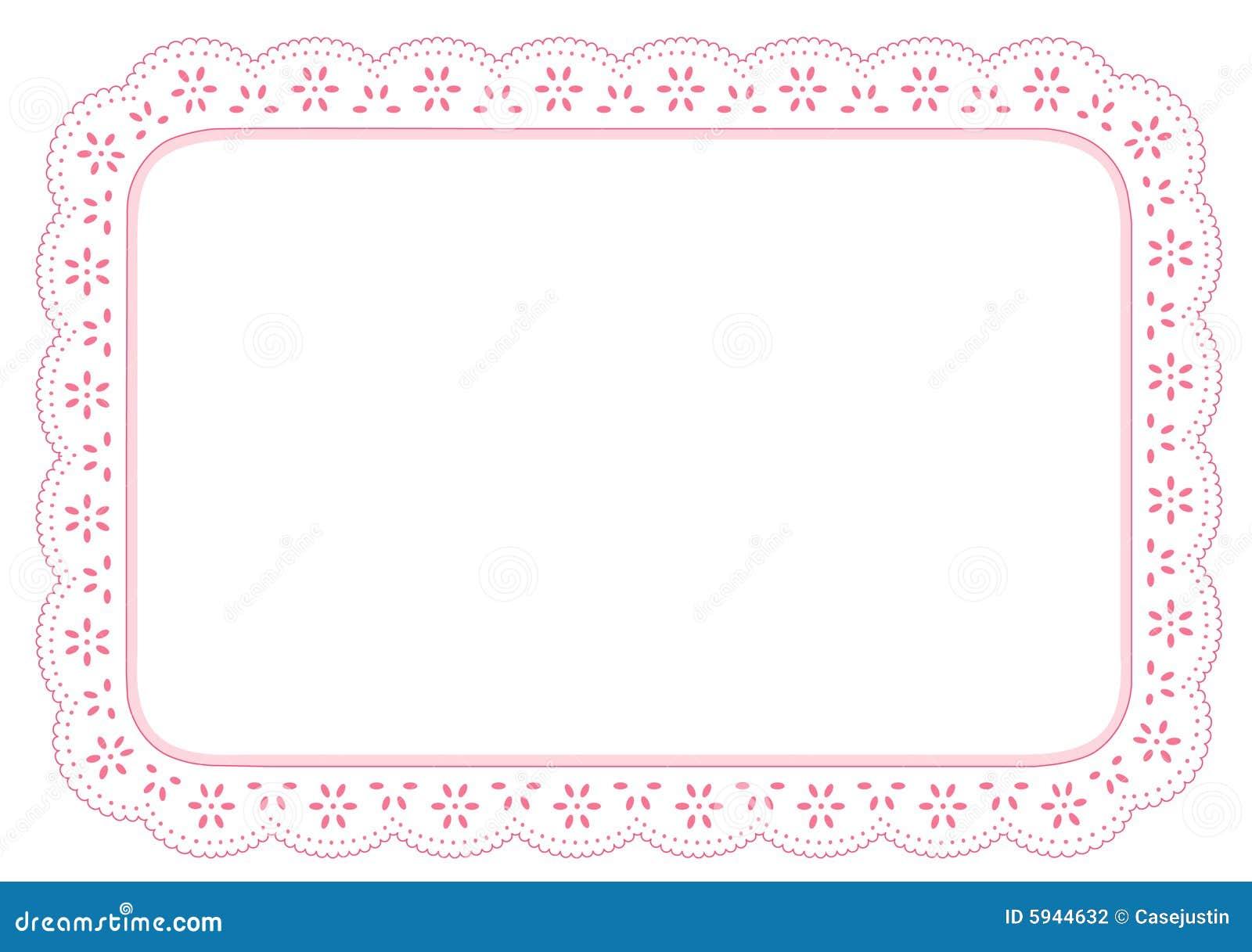 Lace mat pinkeyelet place
