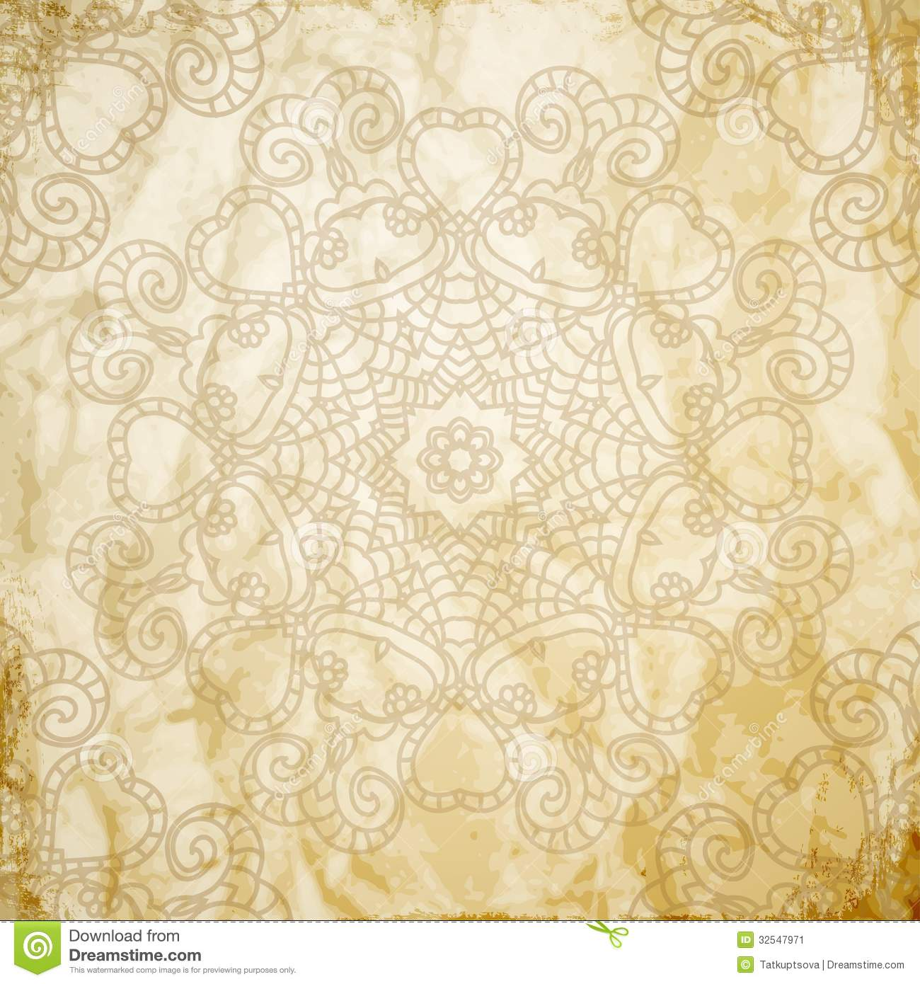 Lace Pattern Background With Indian Ornament Stock Image ...