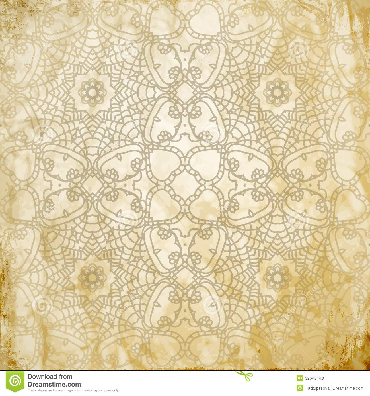 Lace Pattern Background With Indian Ornament Stock Photos - Image: 32548143