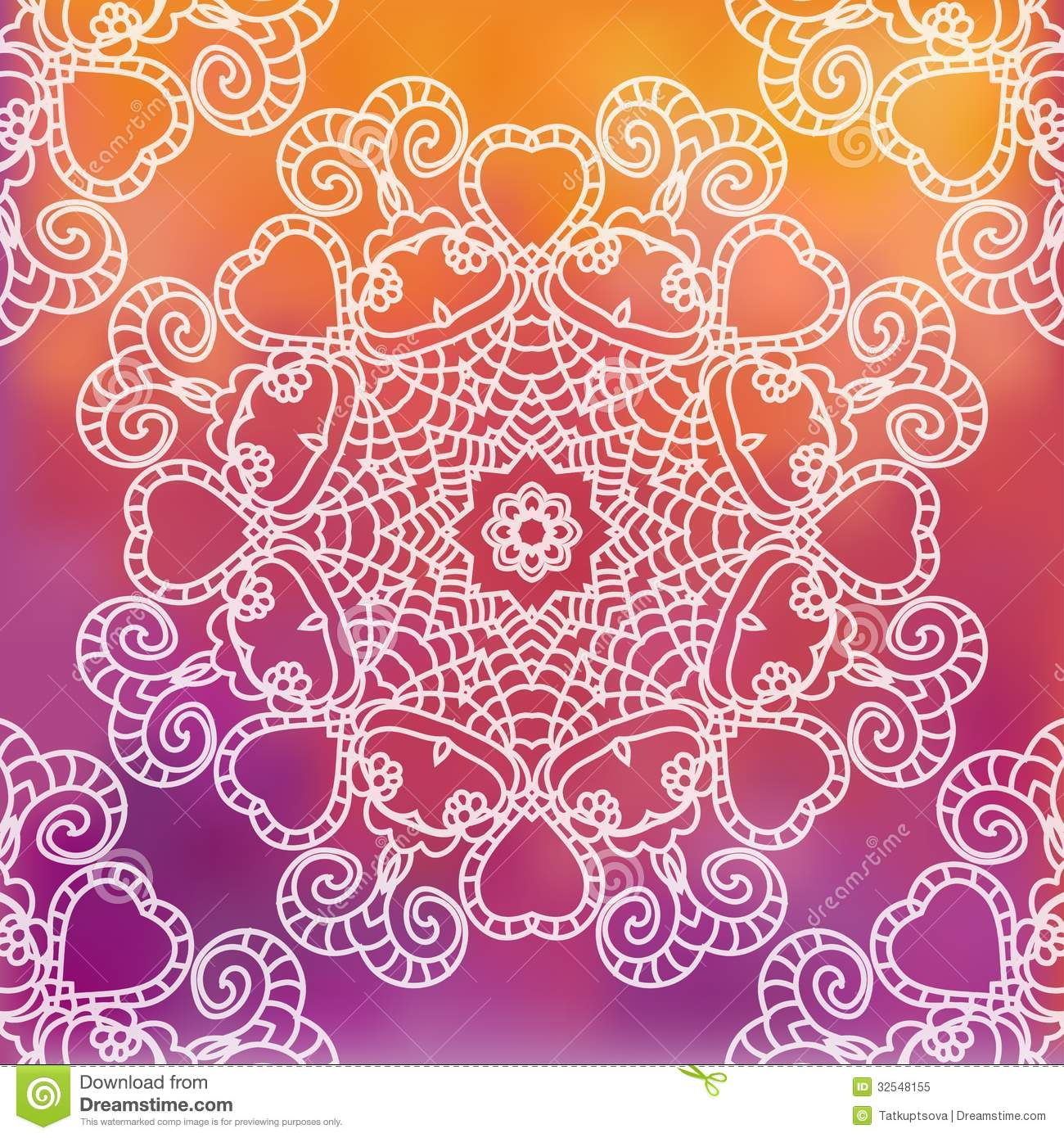 Lace Pattern Background With Indian Ornament Royalty Free ...