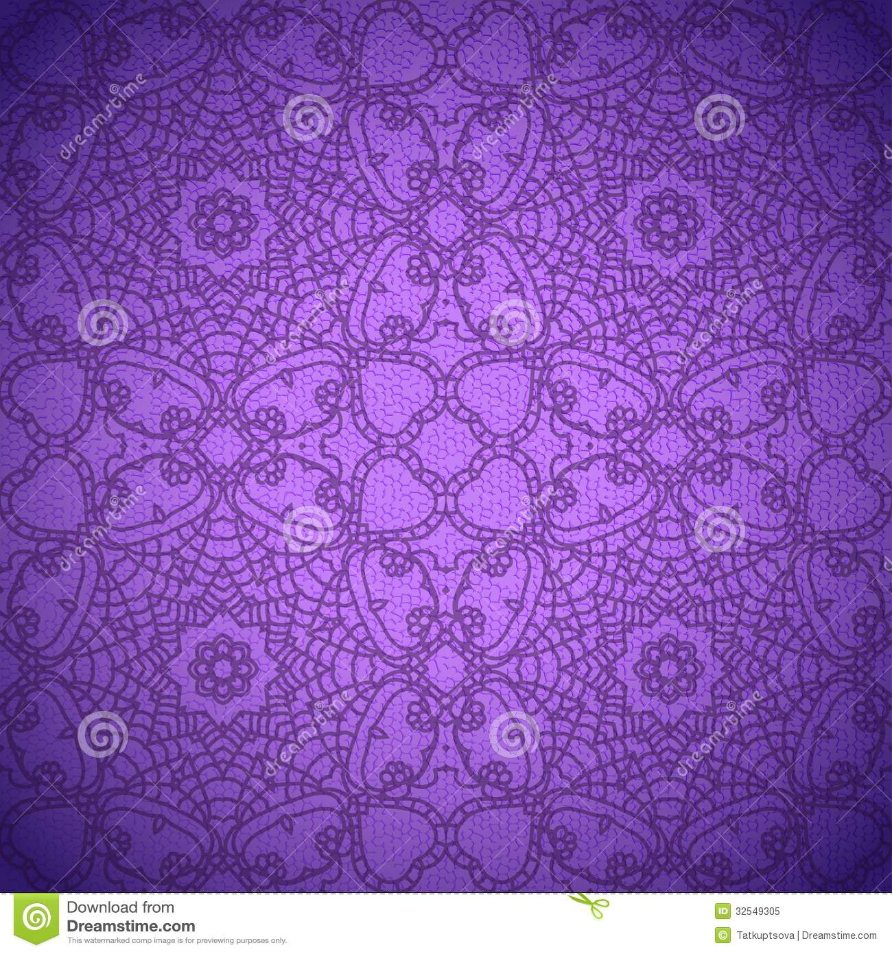 Lace Pattern Background With Indian Ornament Royalty Free