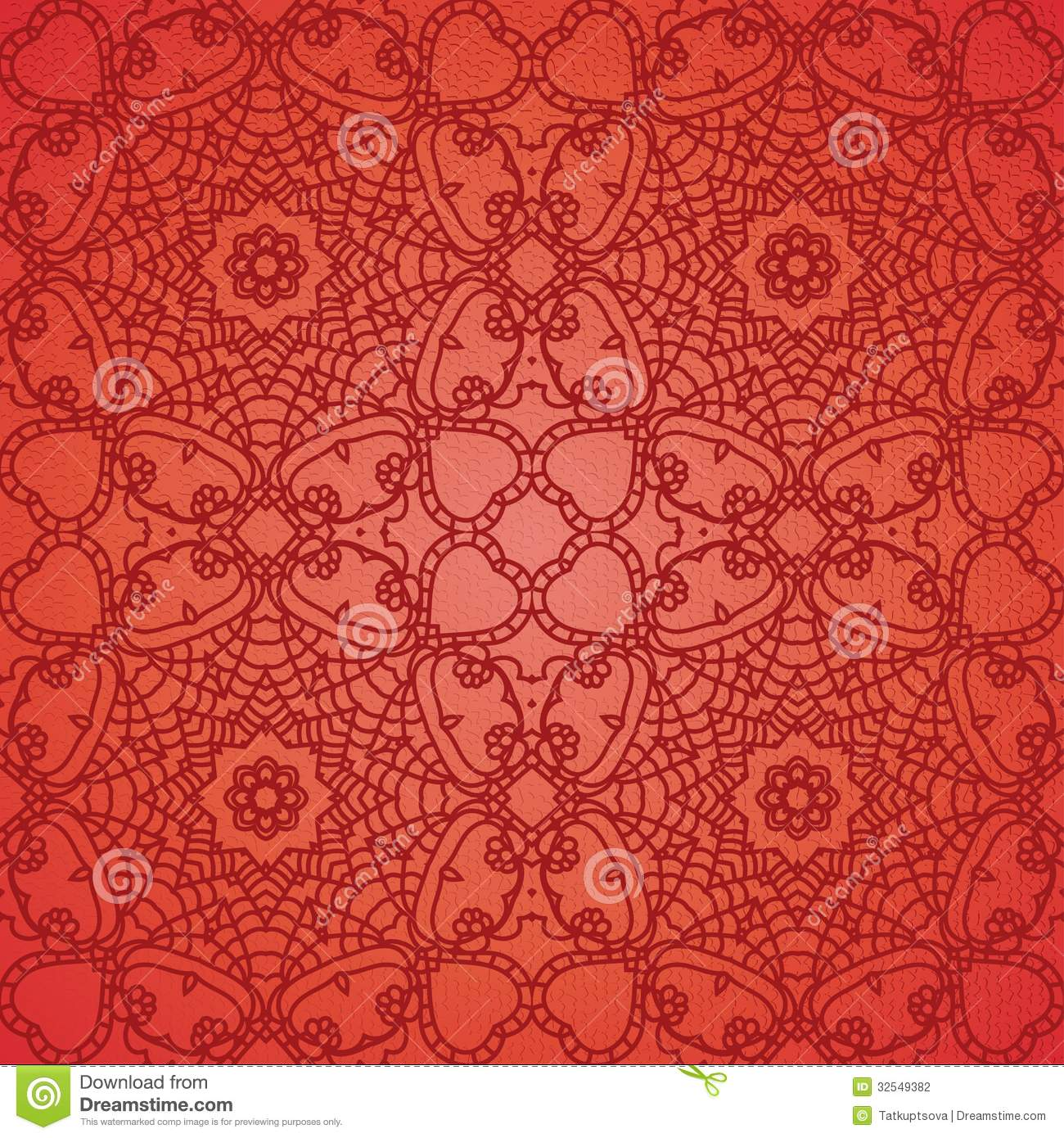 lace pattern background with indian ornament stock