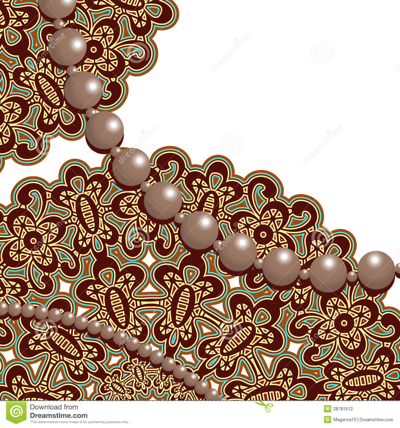 Lace And Pearls Stock Photography - Image: 28781512