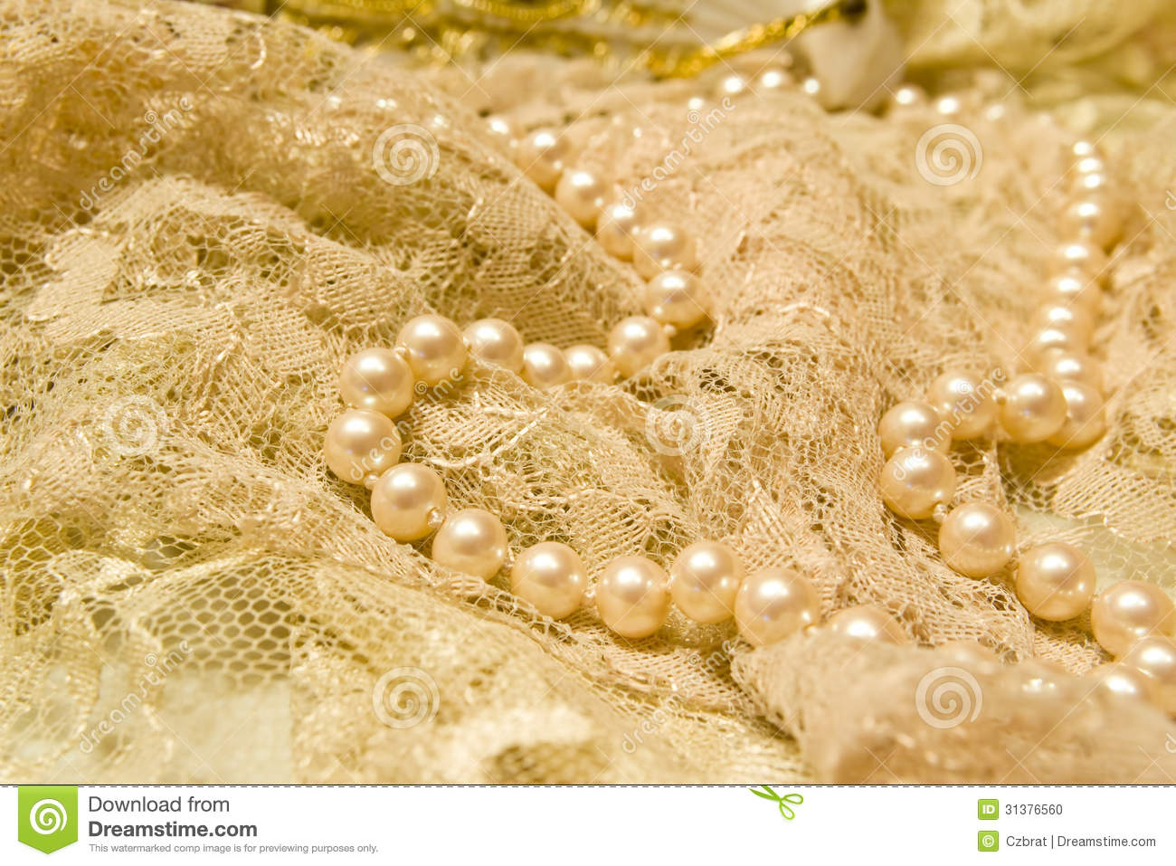 Lace And Pearls Stock Photo - Image: 31376560