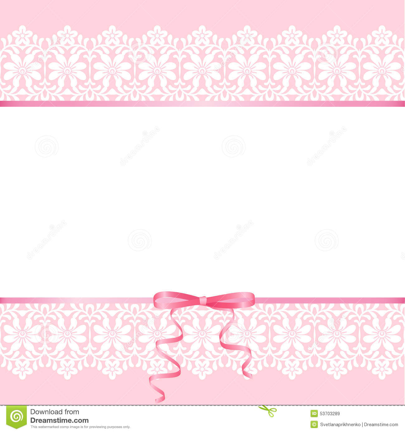 Lace On Pink Background Stock Vector - Image: 53703289