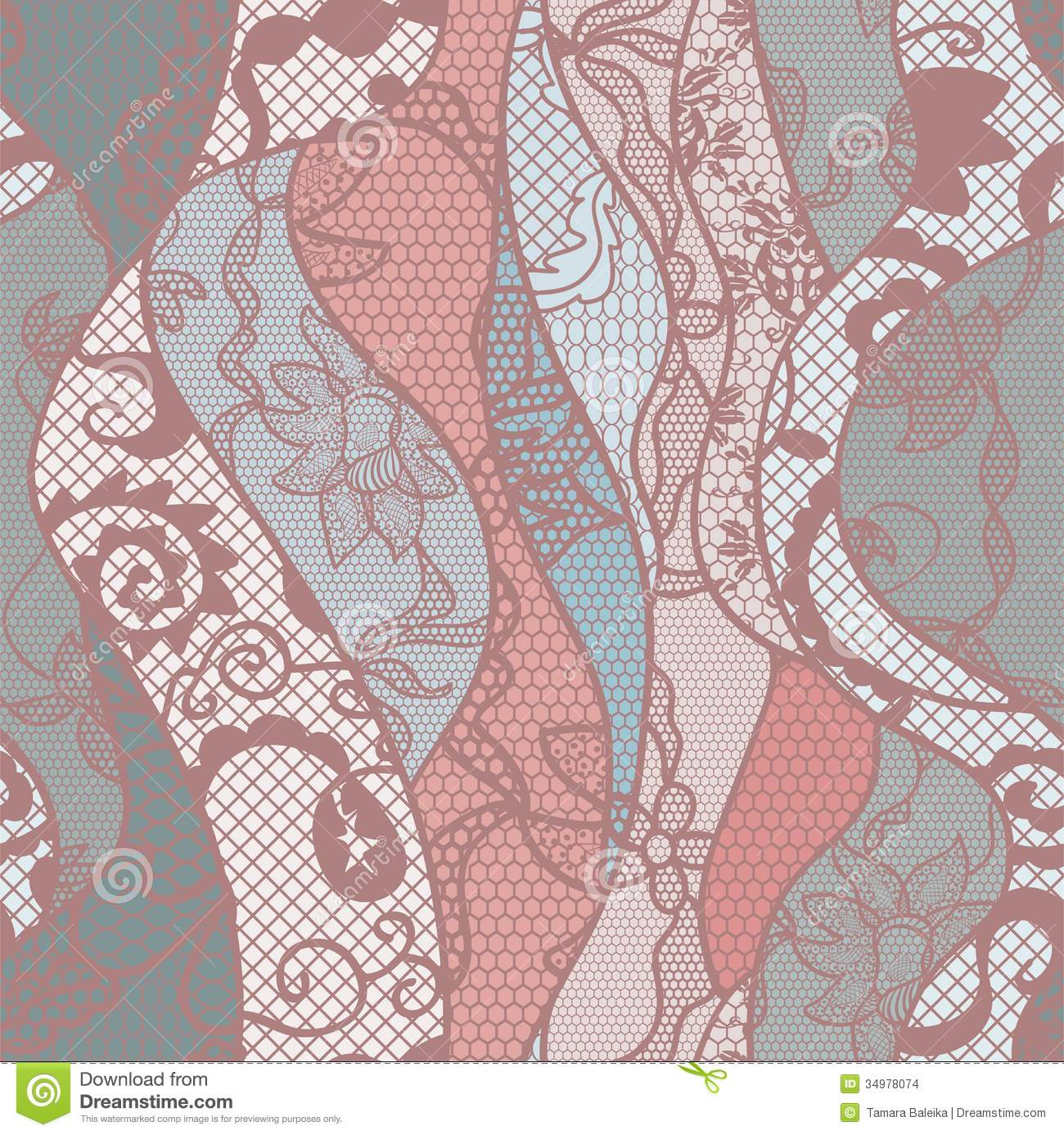 Lace seamless pattern with flowers stock vector illustration of easter love 34978074 - Pastel lace wallpaper ...