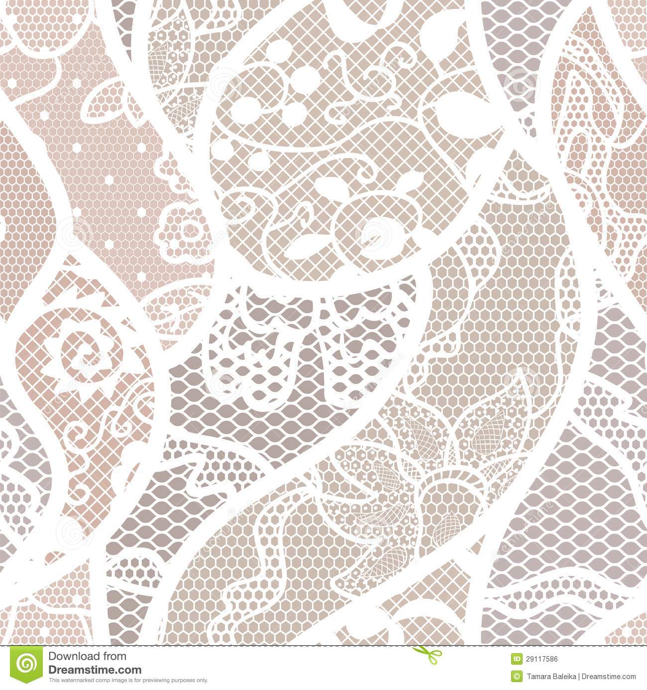 Vintage seamless floral lace pattern, ...   Stock vector   Colourbox   1387x1300