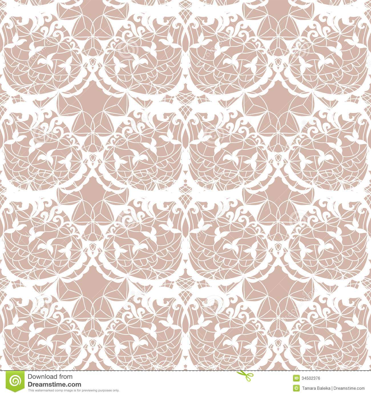 Lace Vector Fabric Seamless Pattern Royalty Free Stock