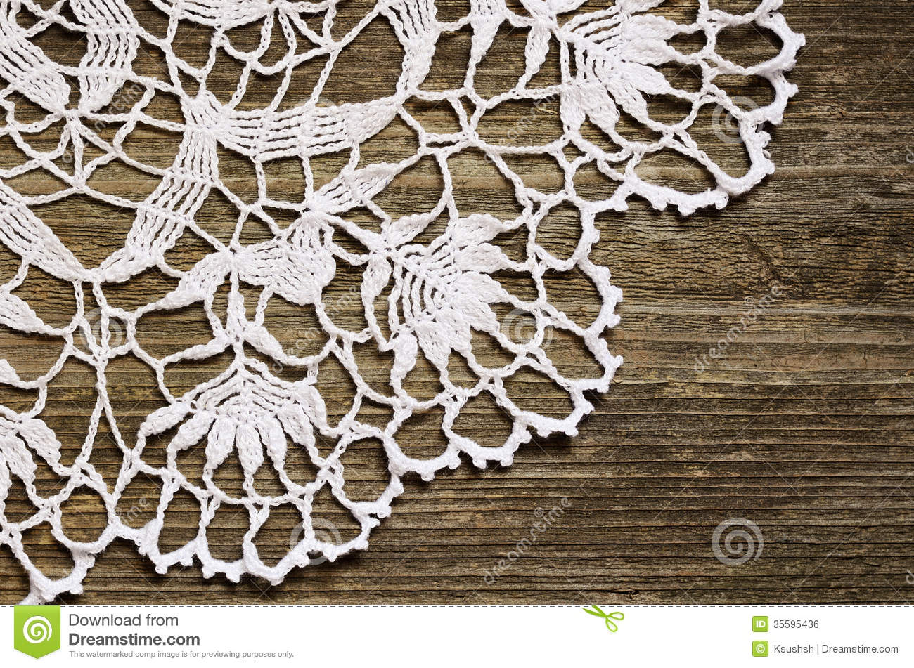 Lace On Wood Royalty Free Stock Image - Image: 35595436