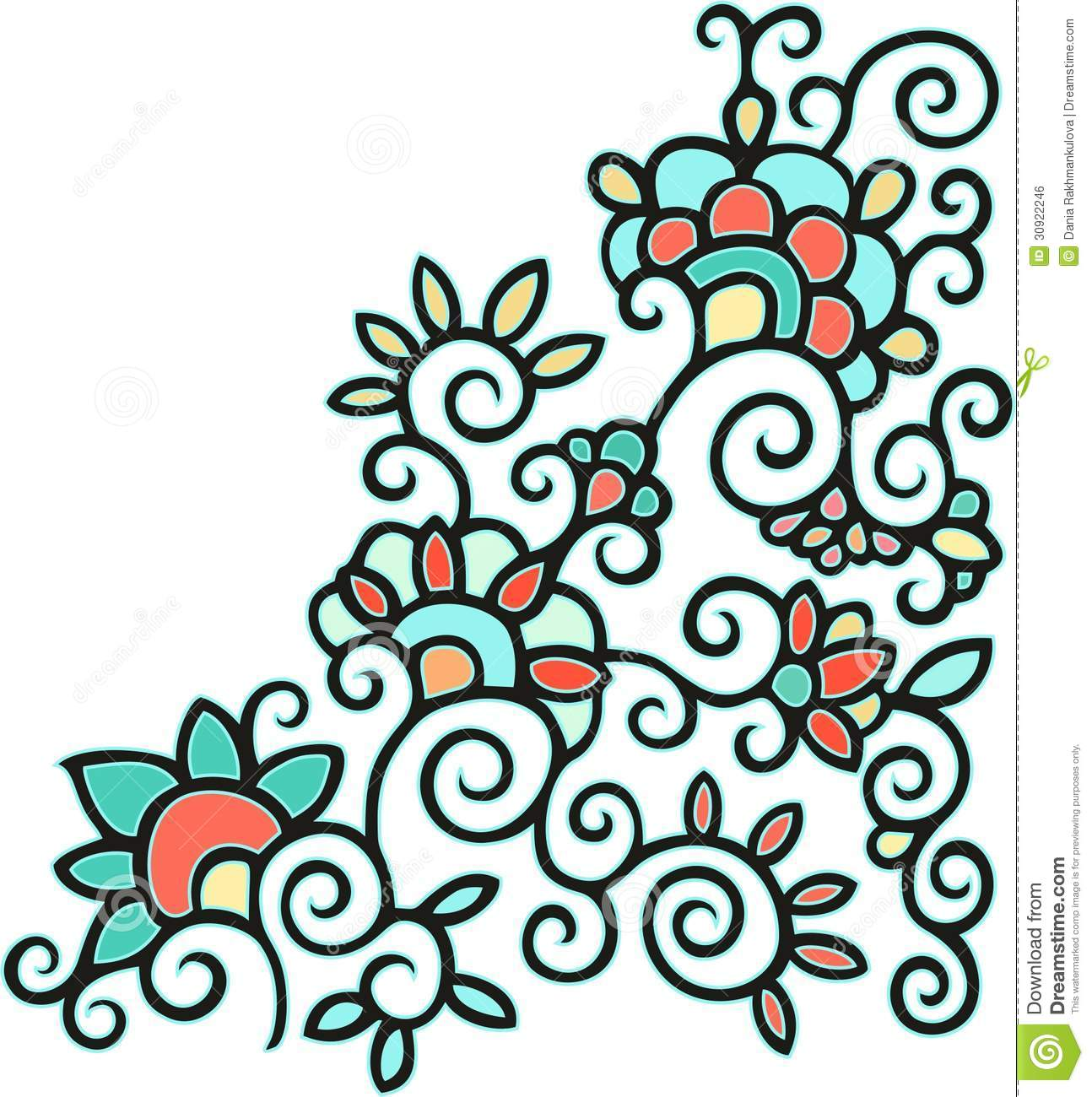 Laced Floral Pattern Royalty Free Stock Image