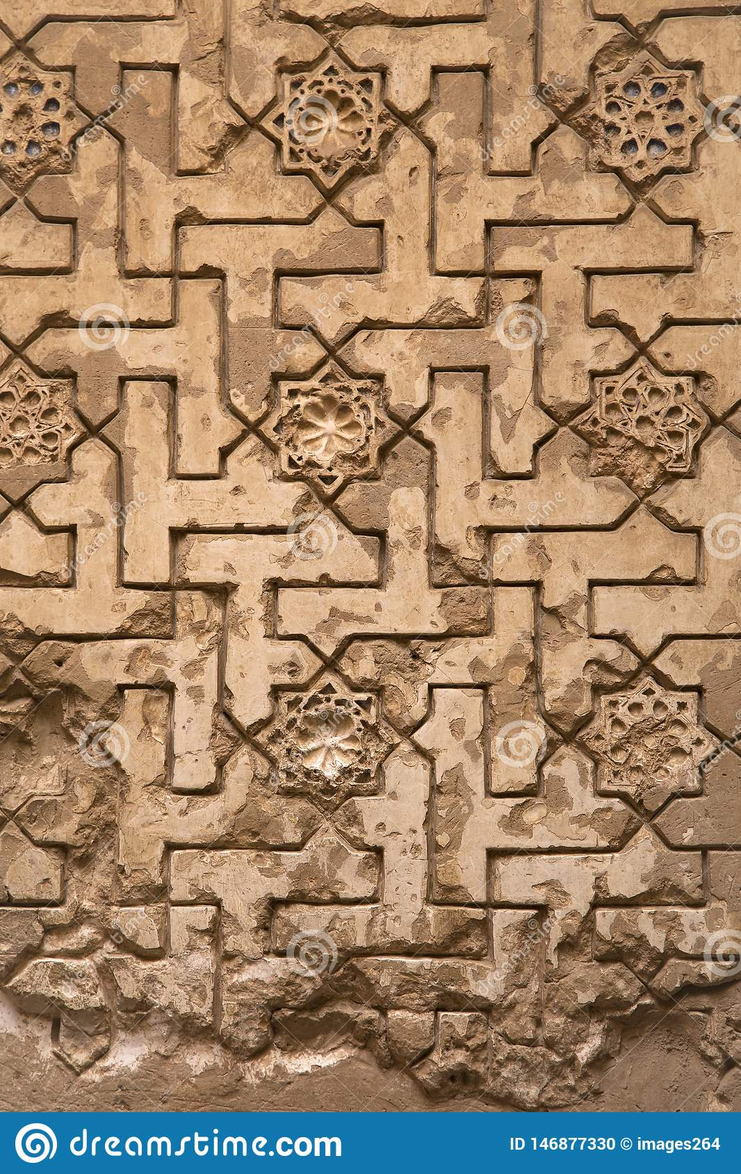 Laceworkgipspleister in Alhambra van Granada