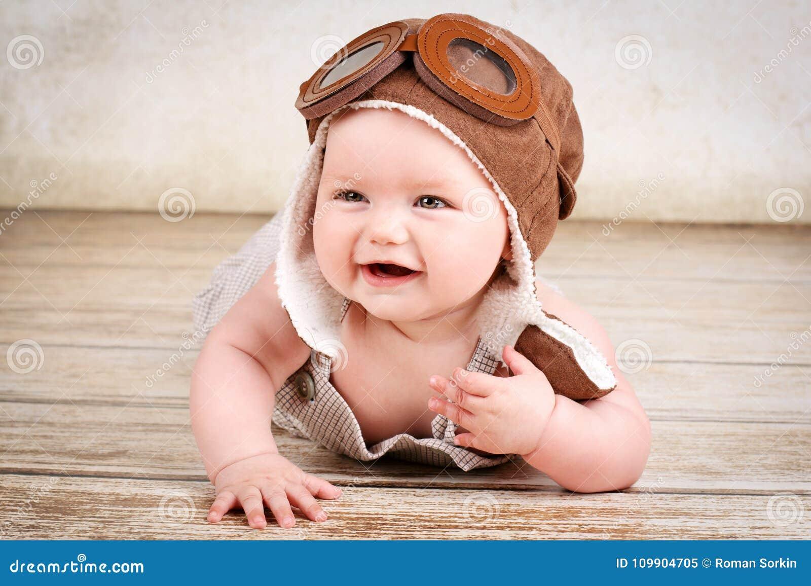 Lachend weinig baby