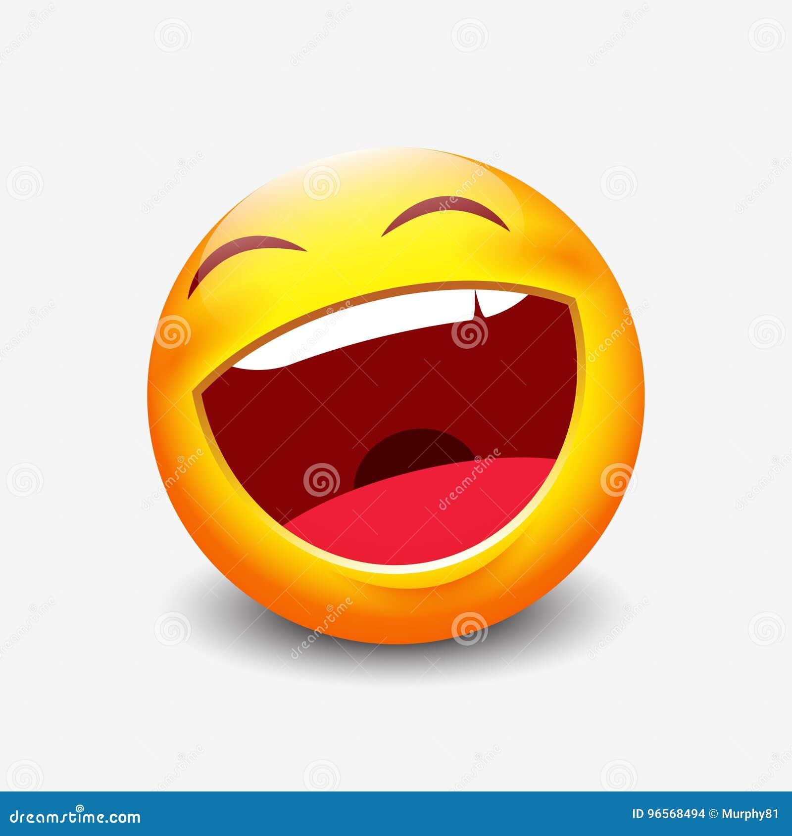 Lachender Emoticon Vektorillustration Vektor Abbildung