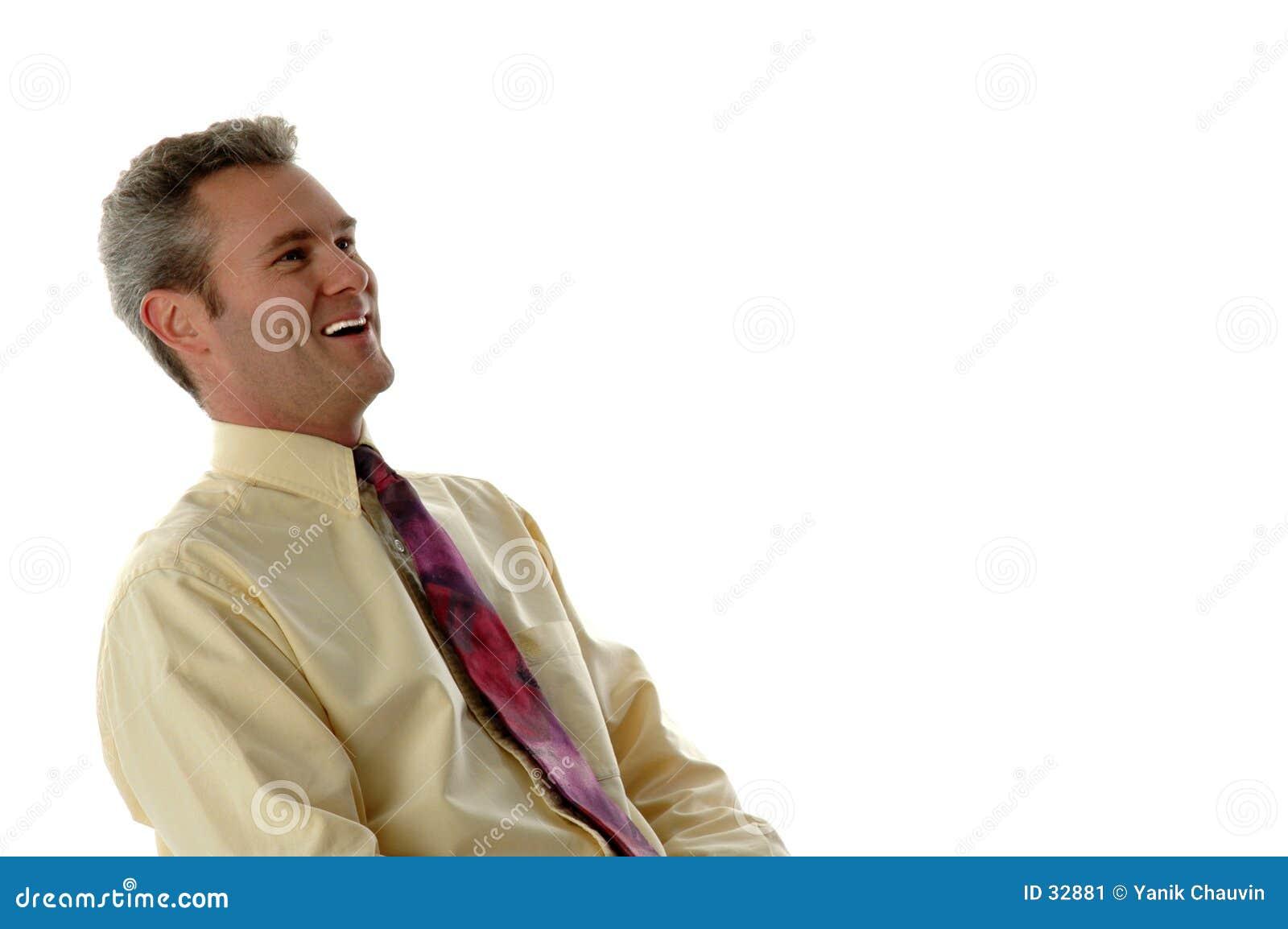 Lachender Geschäftsmann