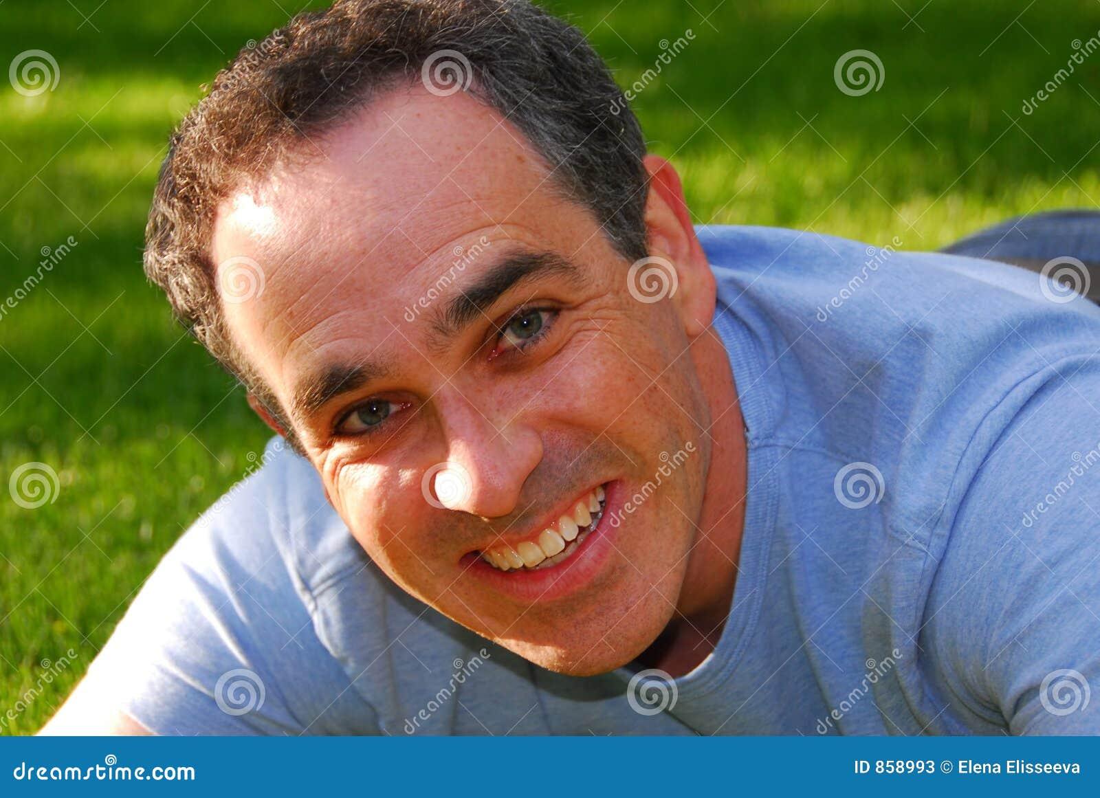 Lachender Mann