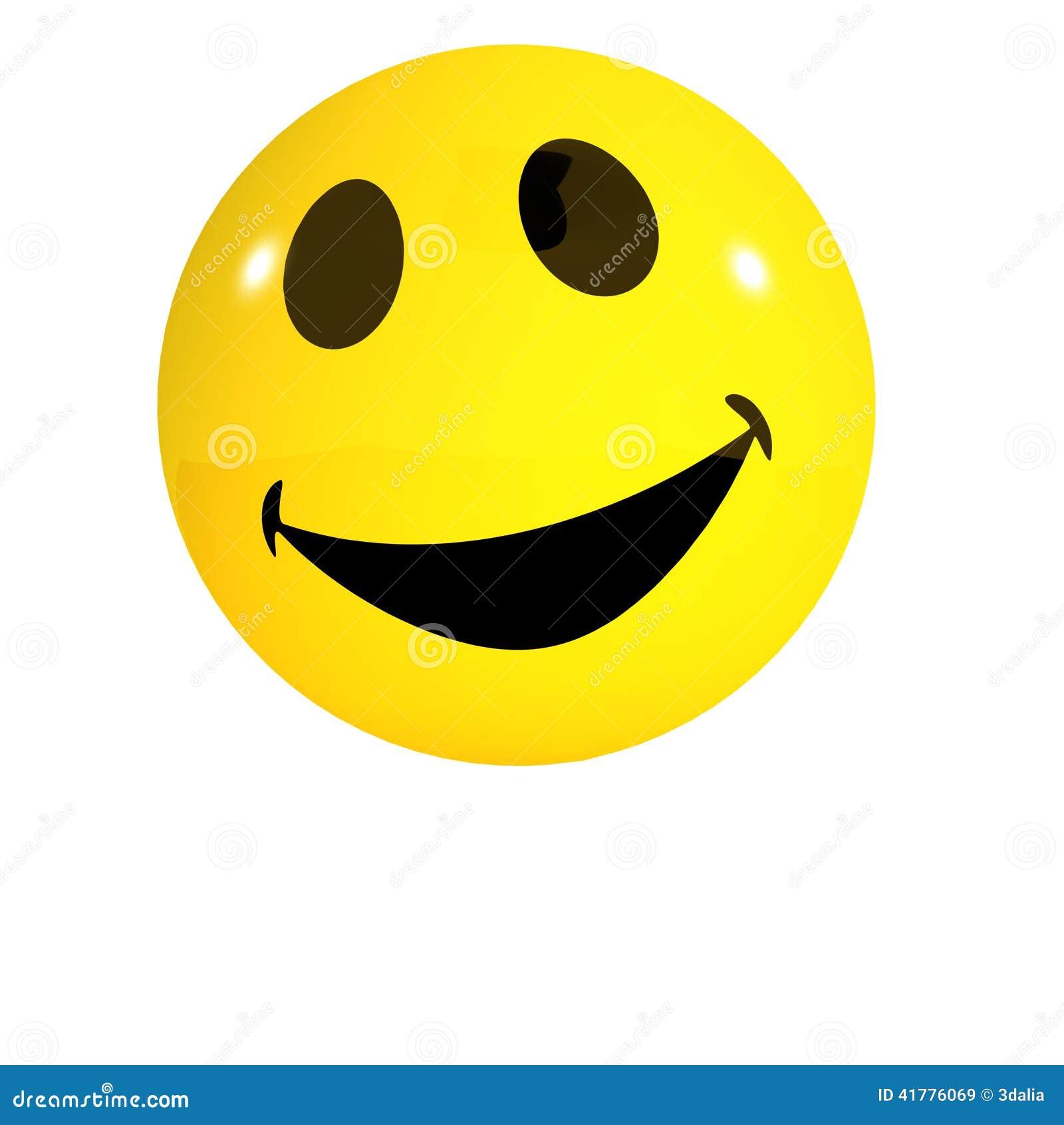 Lachender Smiley 3d Stock Abbildung Illustration Von Emoticon