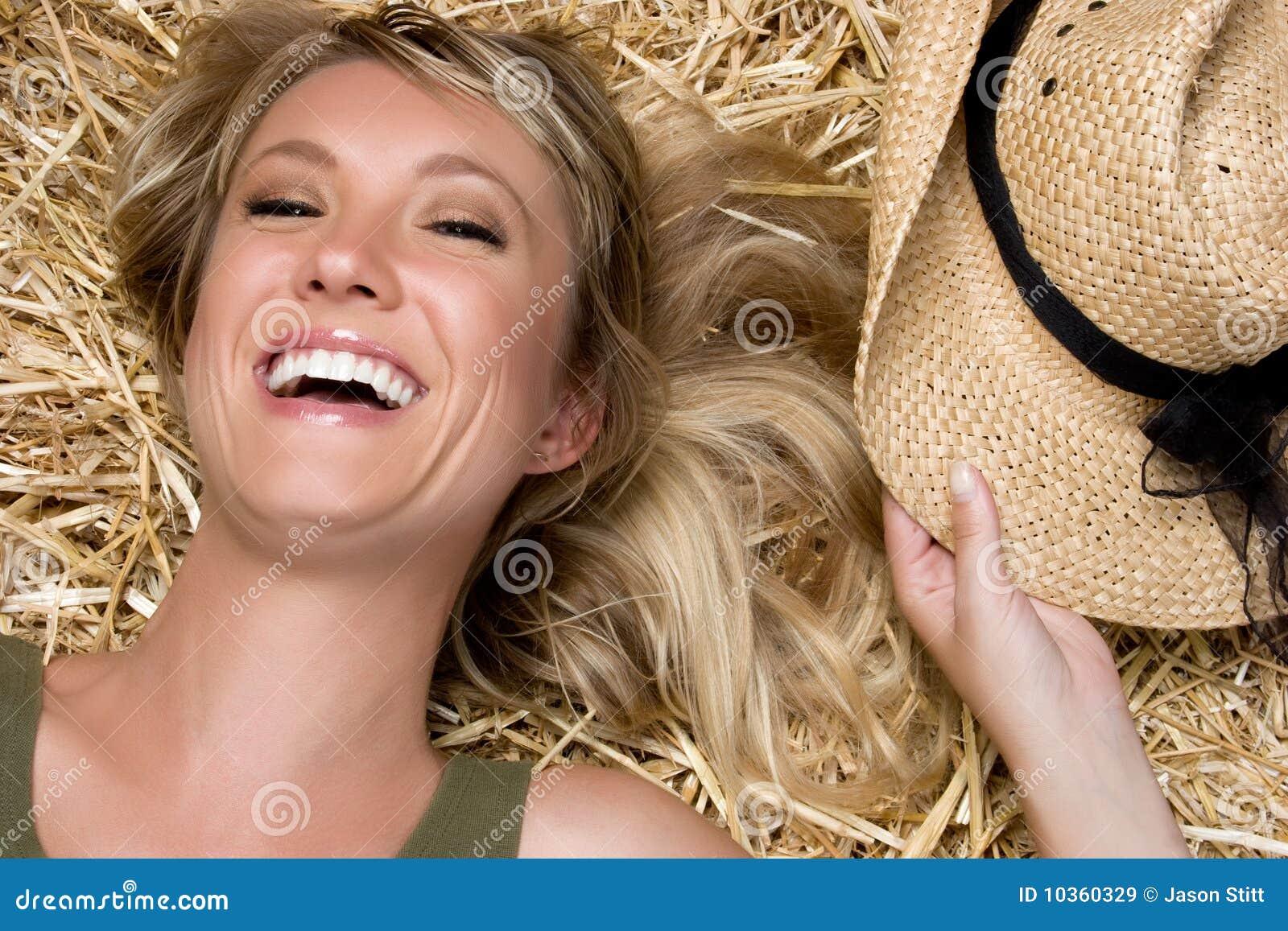 Lachendes Land-Mädchen
