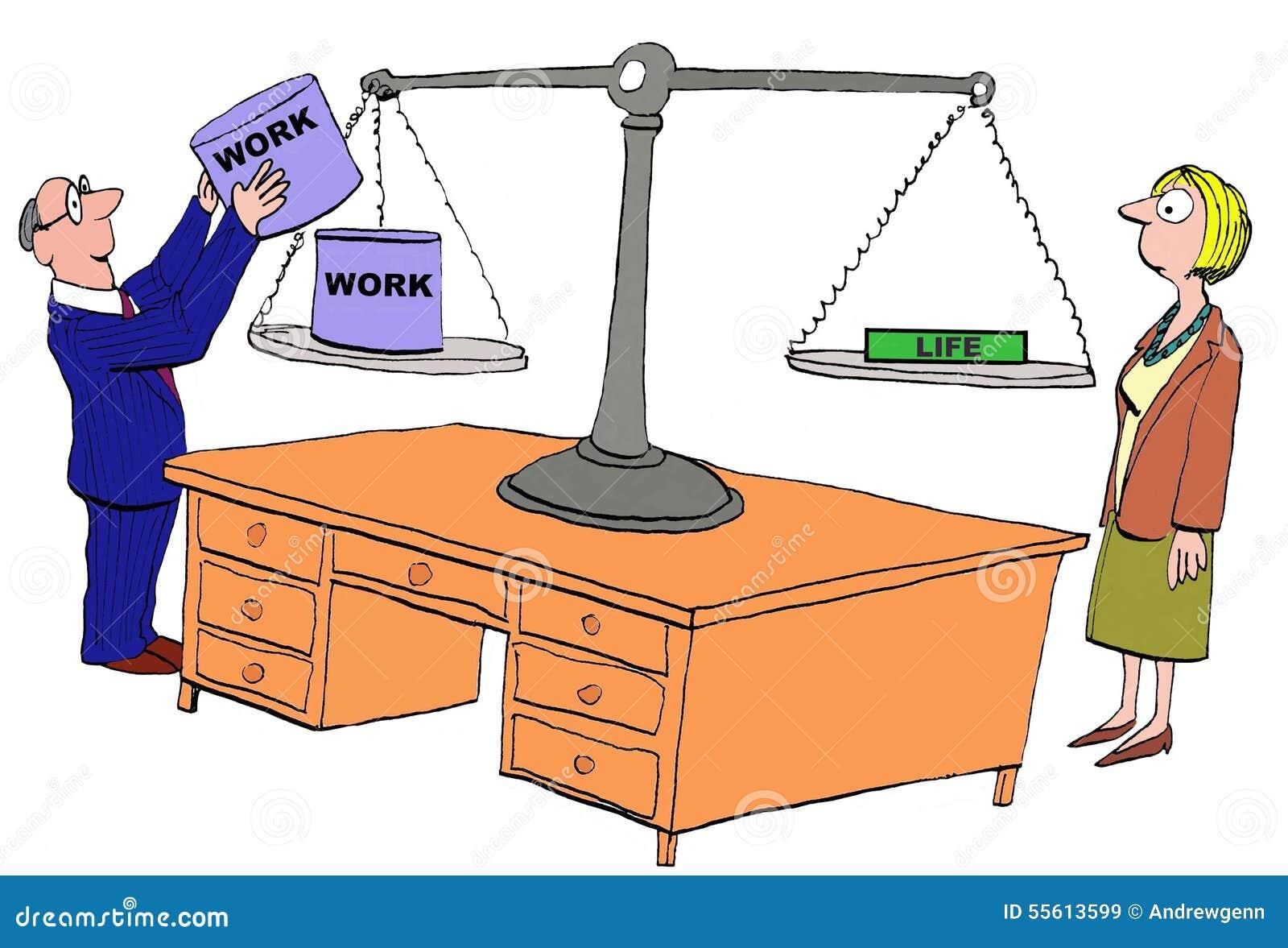 Lack Of Work Life Balance Stock Illustration