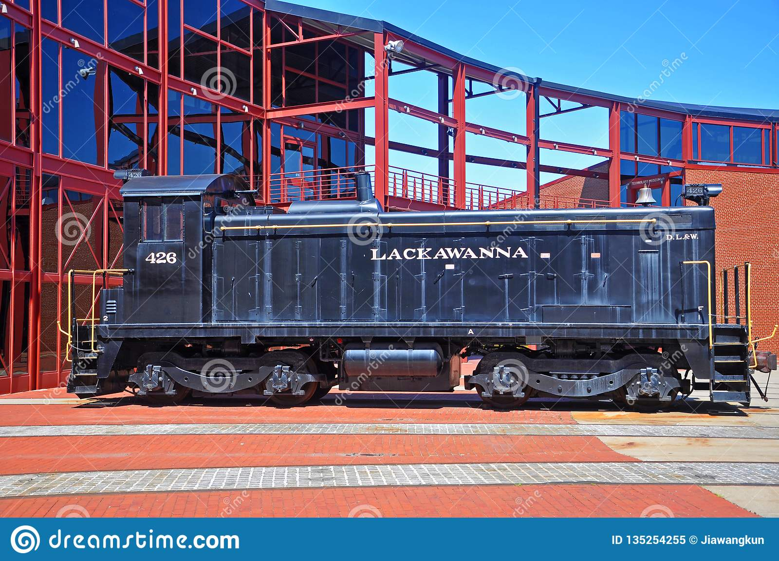 Lackawanna Railroad diesel locomotive, Scranton, PA, USA