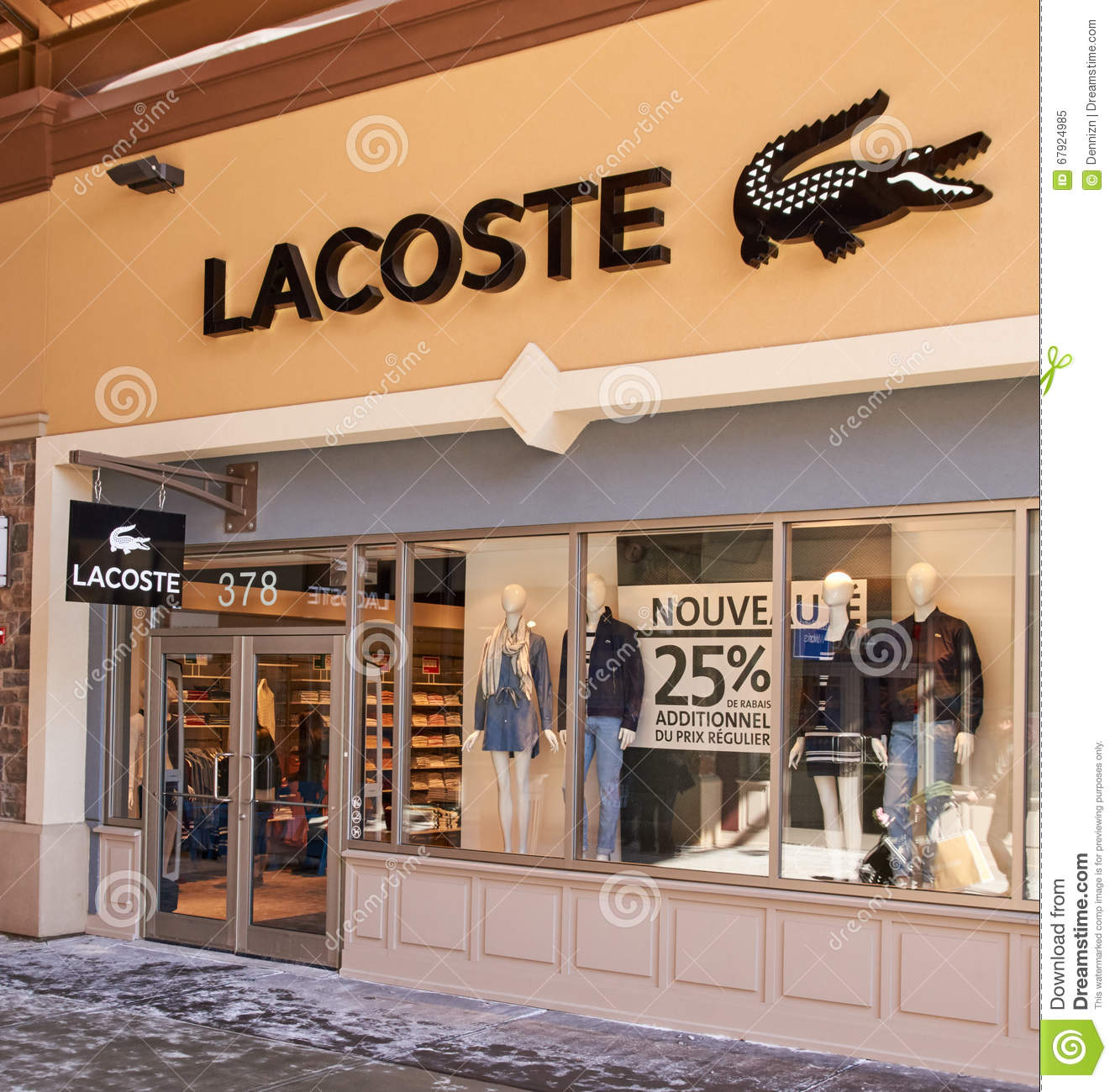 quality design 35579 5a000 Lacoste outlet. editorial image. Image of illustrative ...