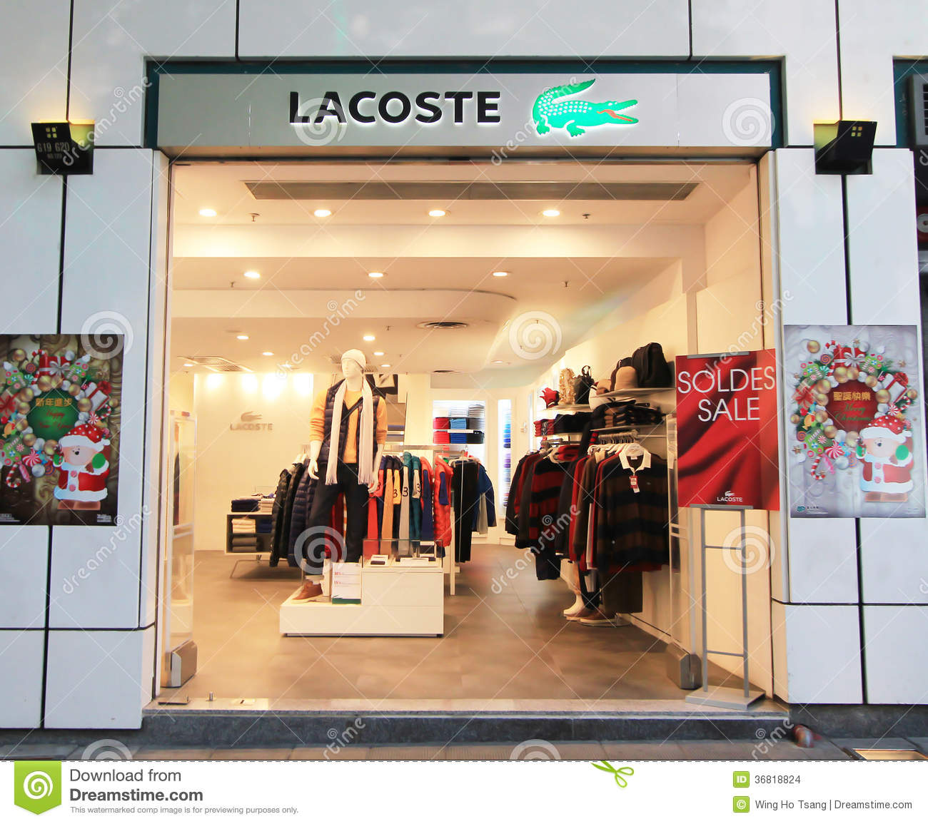 Hong Kong Shopping: Lacoste Shop In Hong Kong Editorial Stock Image