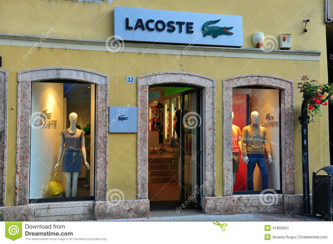 Lacoste store in Italy