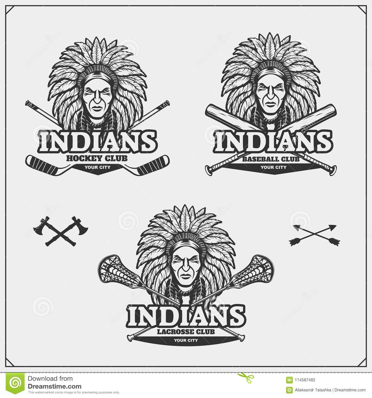 lacrosse baseball and hockey logos and labels sport club emblems rh dreamstime com Indiana Hockey Logo Indiana Hockey Logo