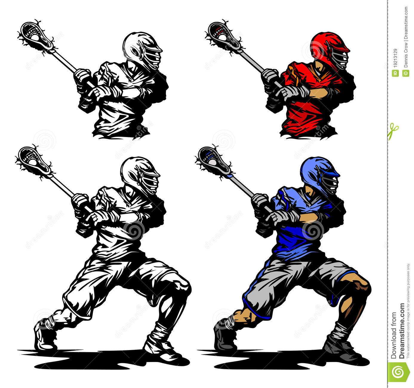 Lacrosse Player Cradling Ball Illustration Royalty Free Stock Images ...