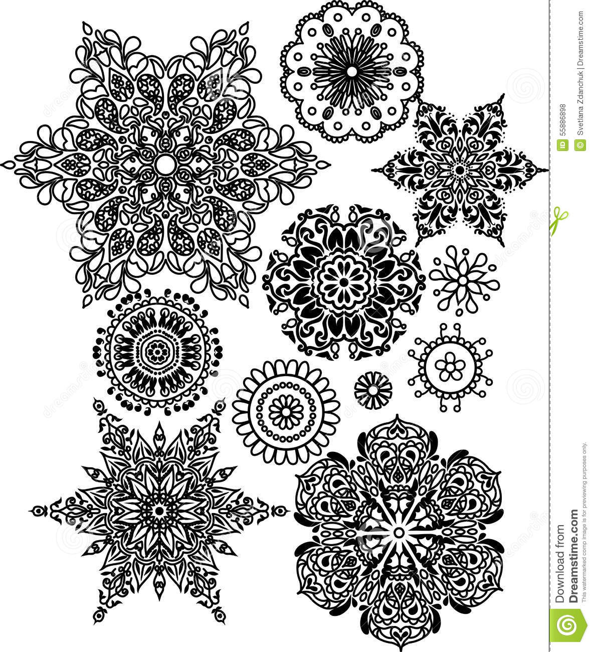 Lacy arabesque designs stock vector image 55886898 for Arabesque style decoration