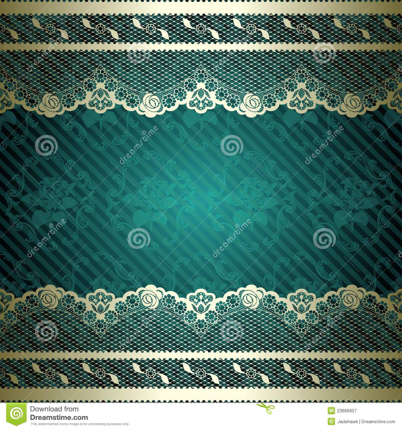 Lacy Design With Dark Green Background Royalty Free Stock