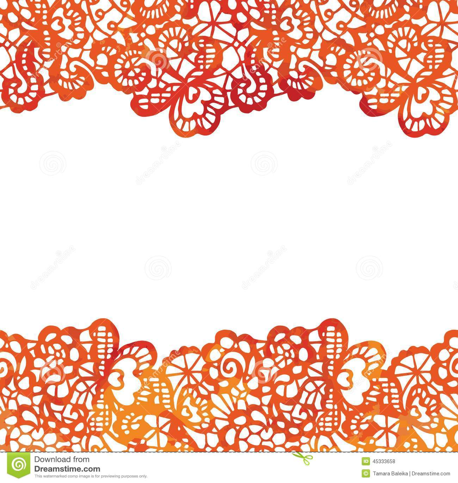 lacy elegant border invitation card stock vector
