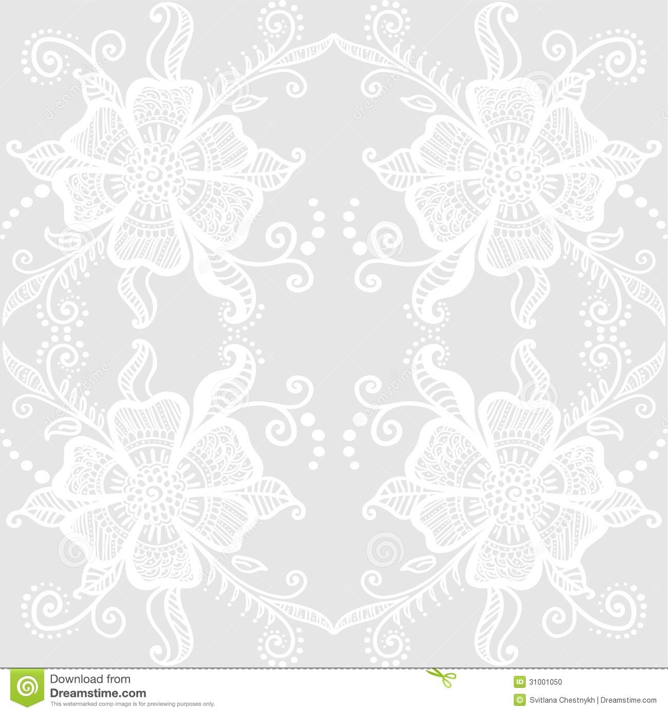 Lacy Floral Pattern Stock Photo Image 31001050