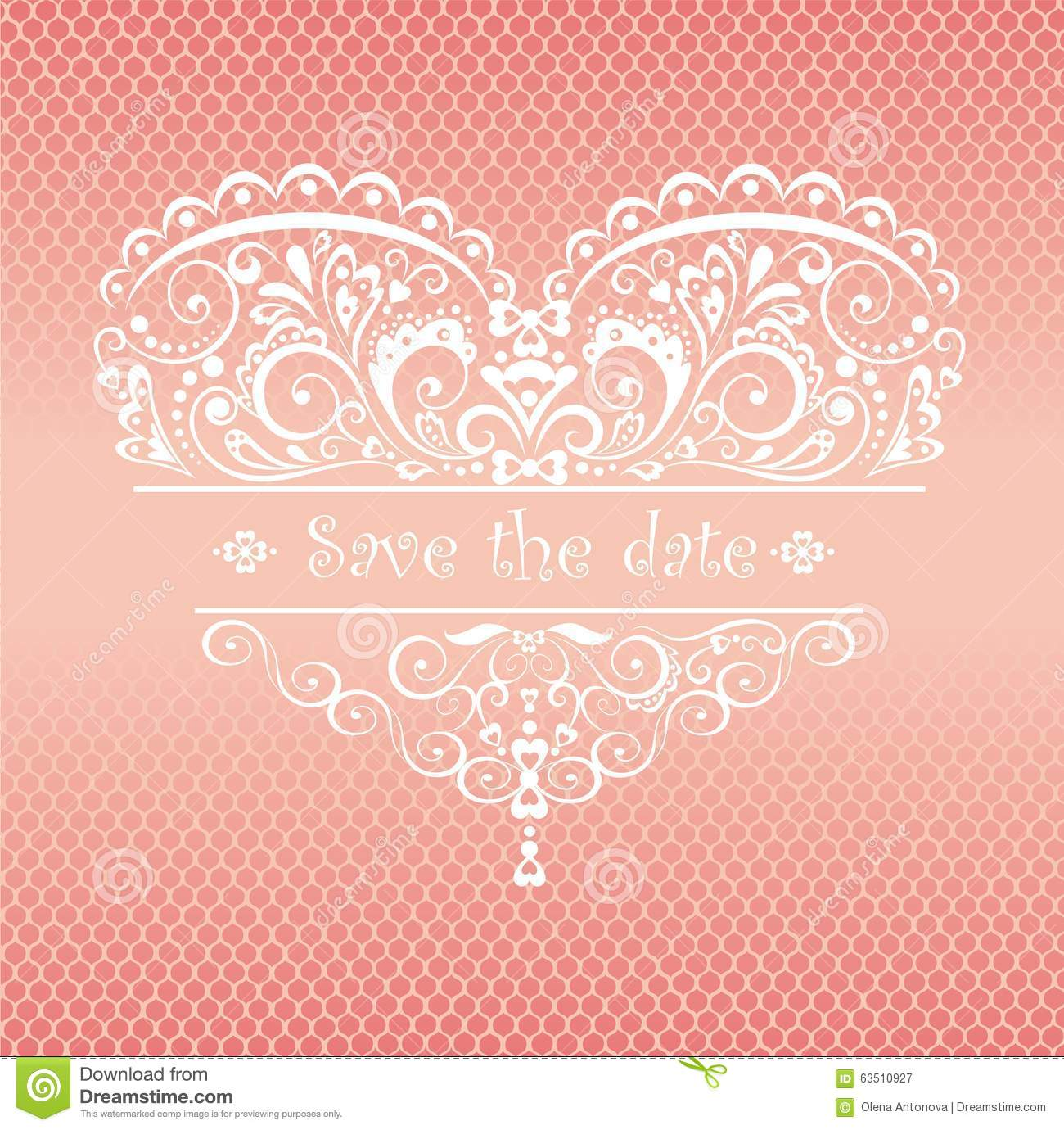 Lacy Greeting For Wedding Ceremony Stock Vector Illustration Of