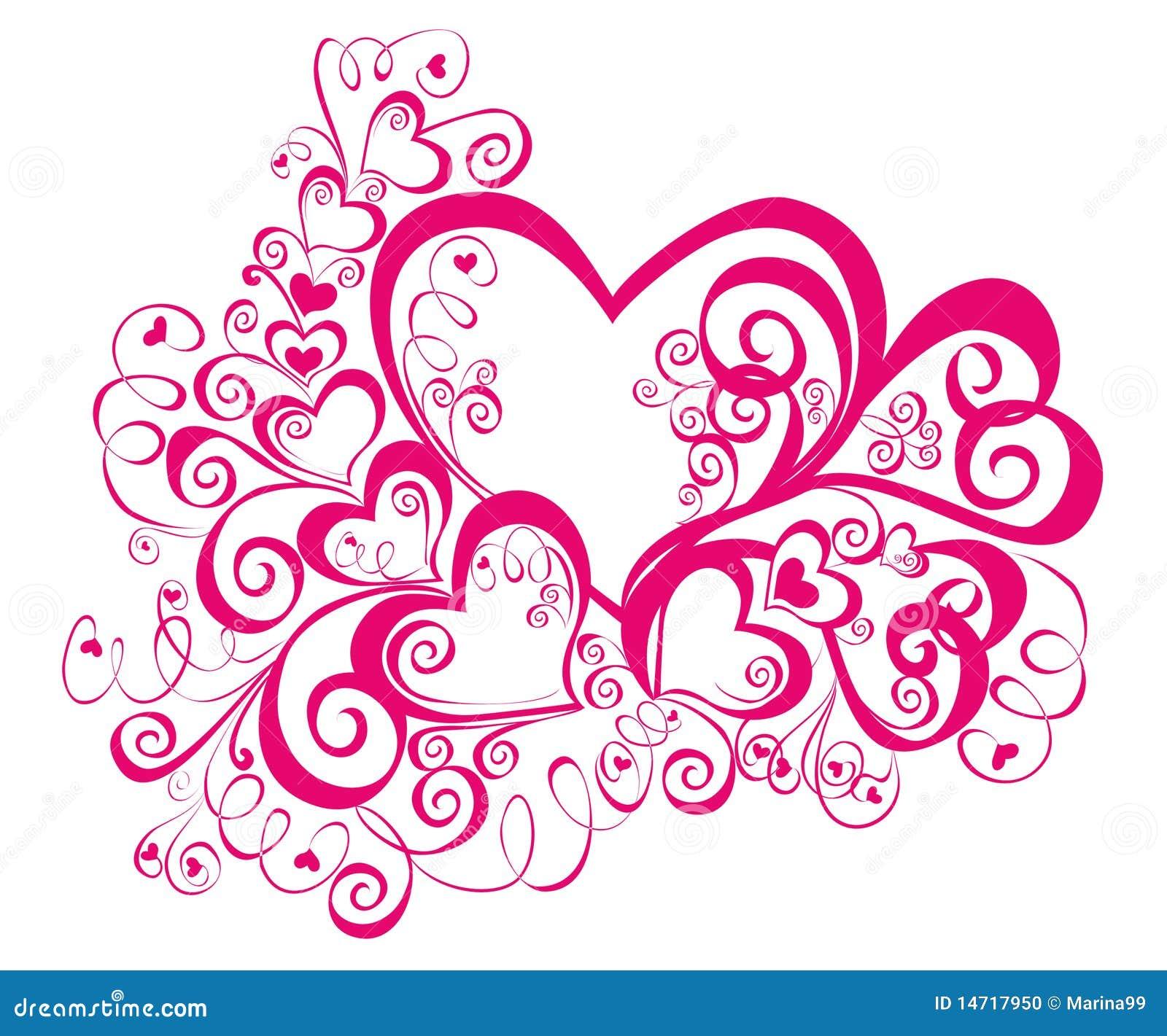 Красивые узоры сердце