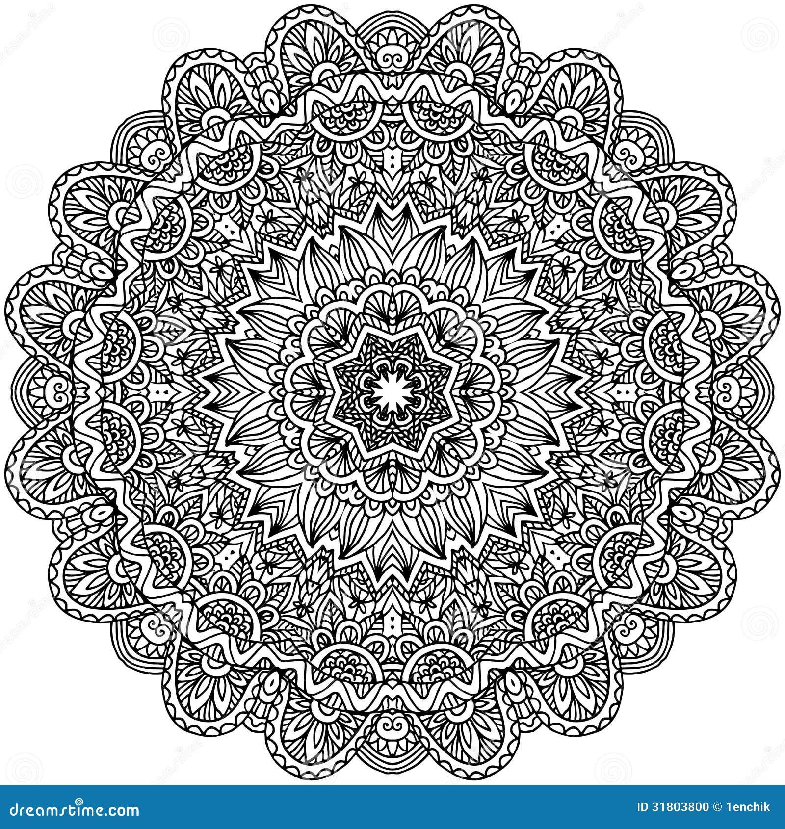 Lacy Ornate Vector Black Napkin Stock Photo Image 31803800
