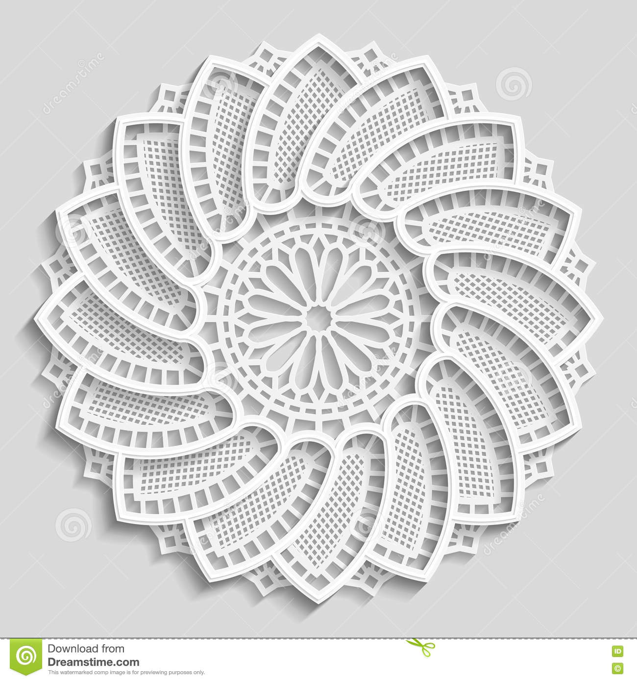 Lacy Paper Doily Decorative Flower Decorative Snowflake Lacy