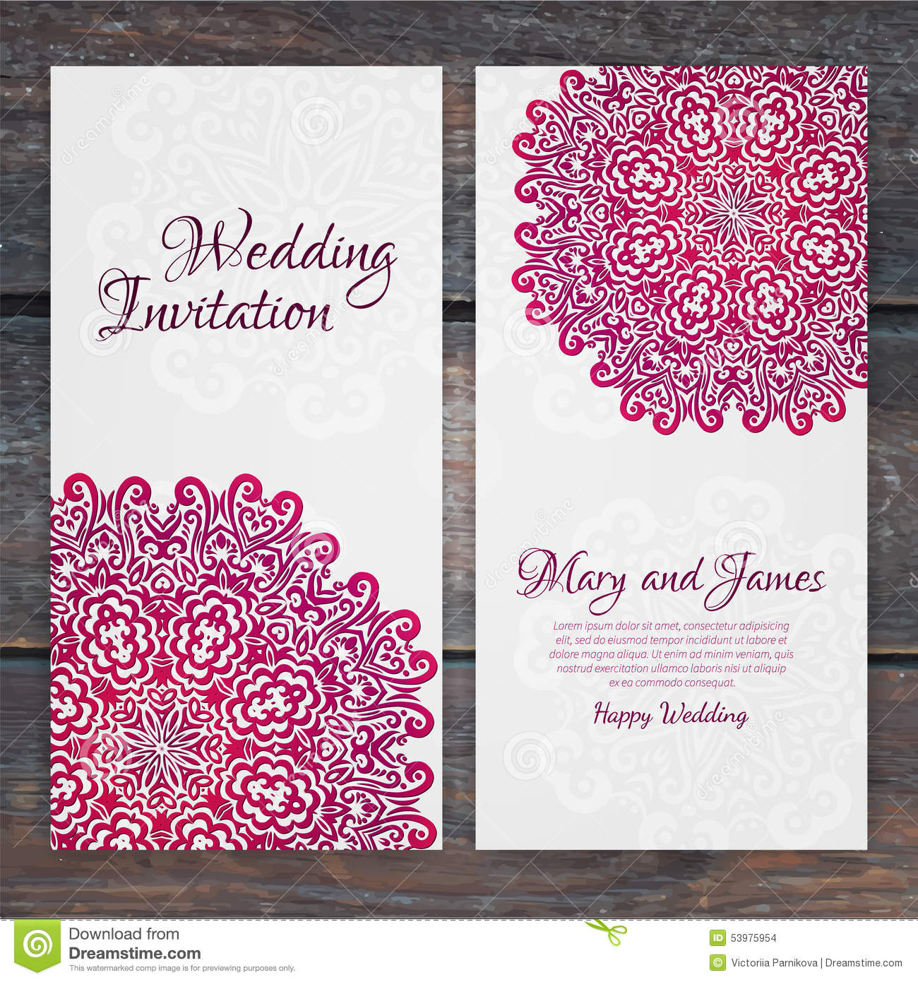 retro wedding card template - 28 images - retro wedding cards vector ...
