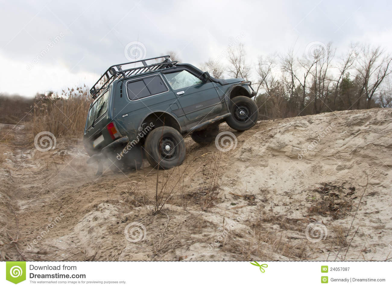 lada niva jeep offroad royalty free stock photography. Black Bedroom Furniture Sets. Home Design Ideas