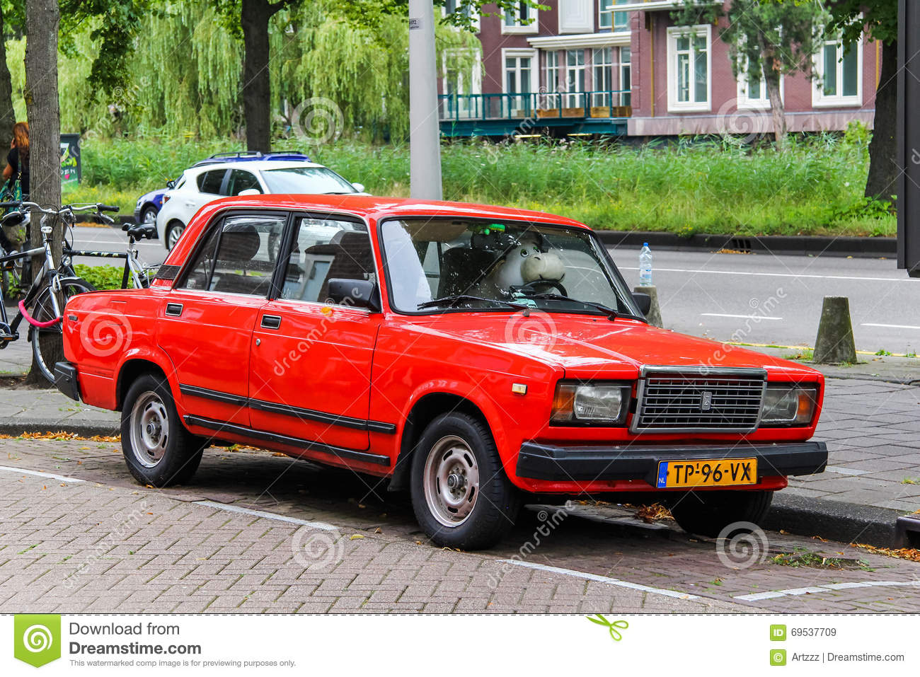 Lada 2107 on the background of the sulaiman too mountain in osh editorial photo cartoondealer Motor city car sales