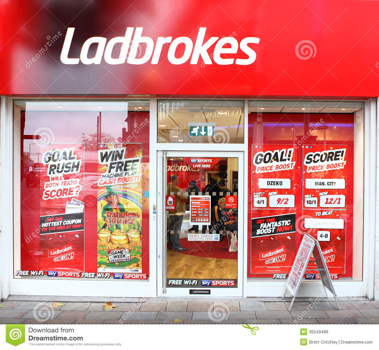 Ladbrokes Gambling Betting Bookies Editorial Photo - Image ...