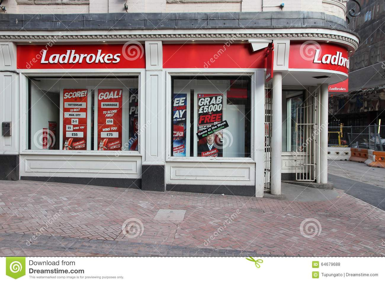 Ladbrokes sports betting editorial stock photo  Image of