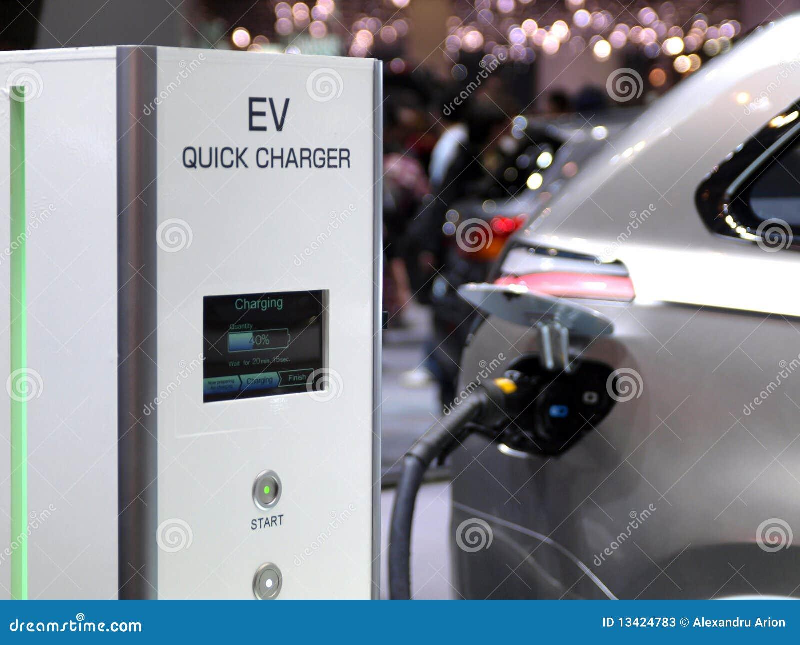 Laddande futuristic begreppselkraft för bil