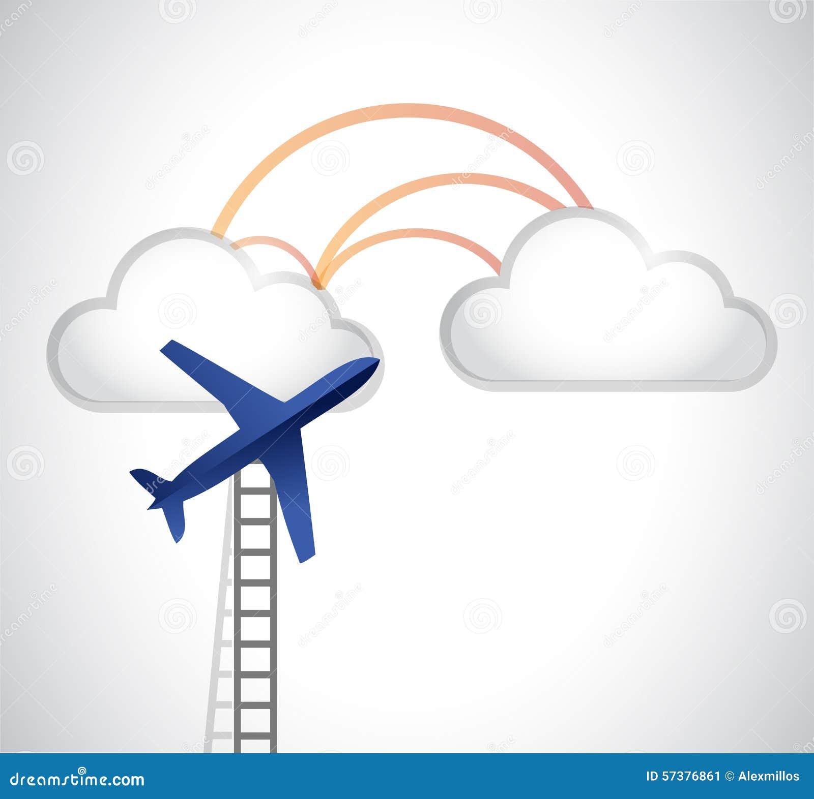 Ladder aan het ontwerp van de wolkenillustratie