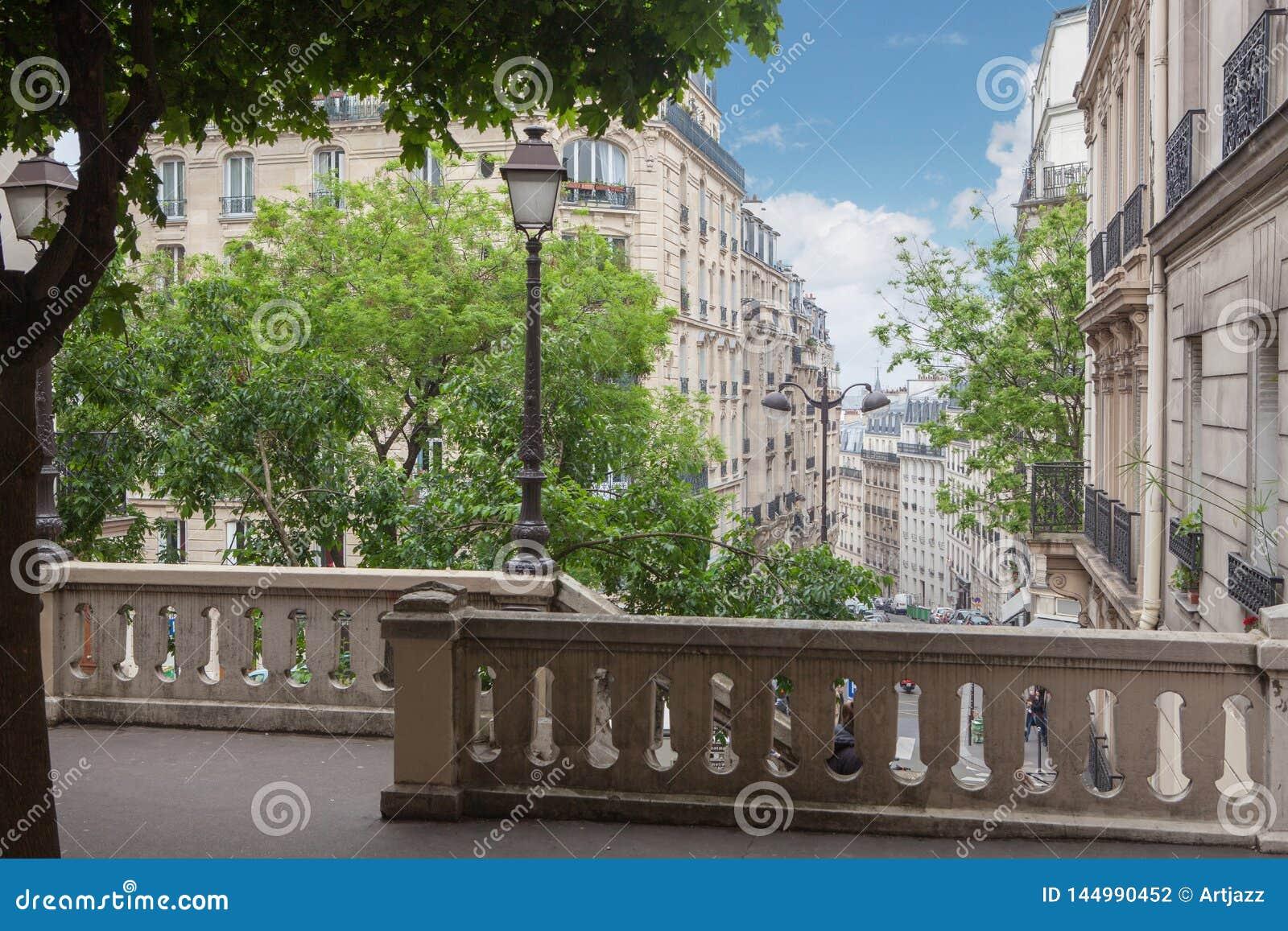 Ladder op de heuvel Montmartre