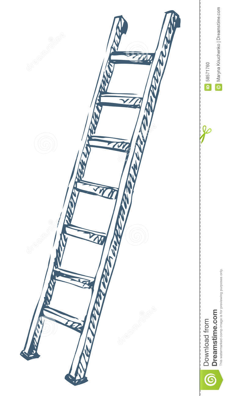 Ladder Vector Illustration Stock Vector Illustration Of