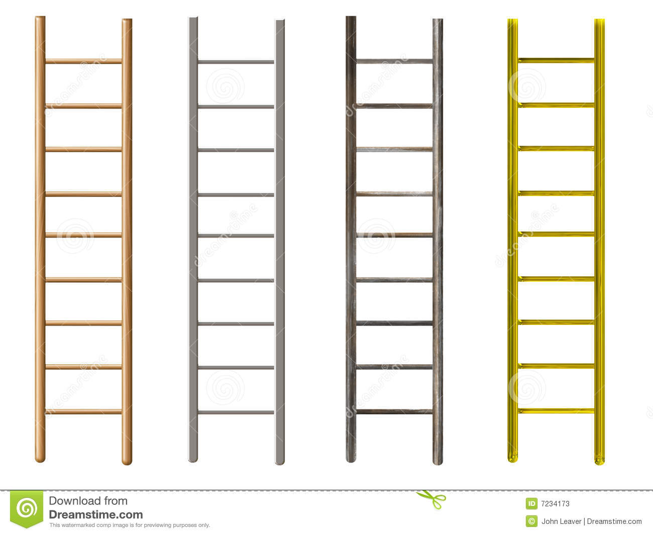 ladders, wood, metal, old, rusty, gold.