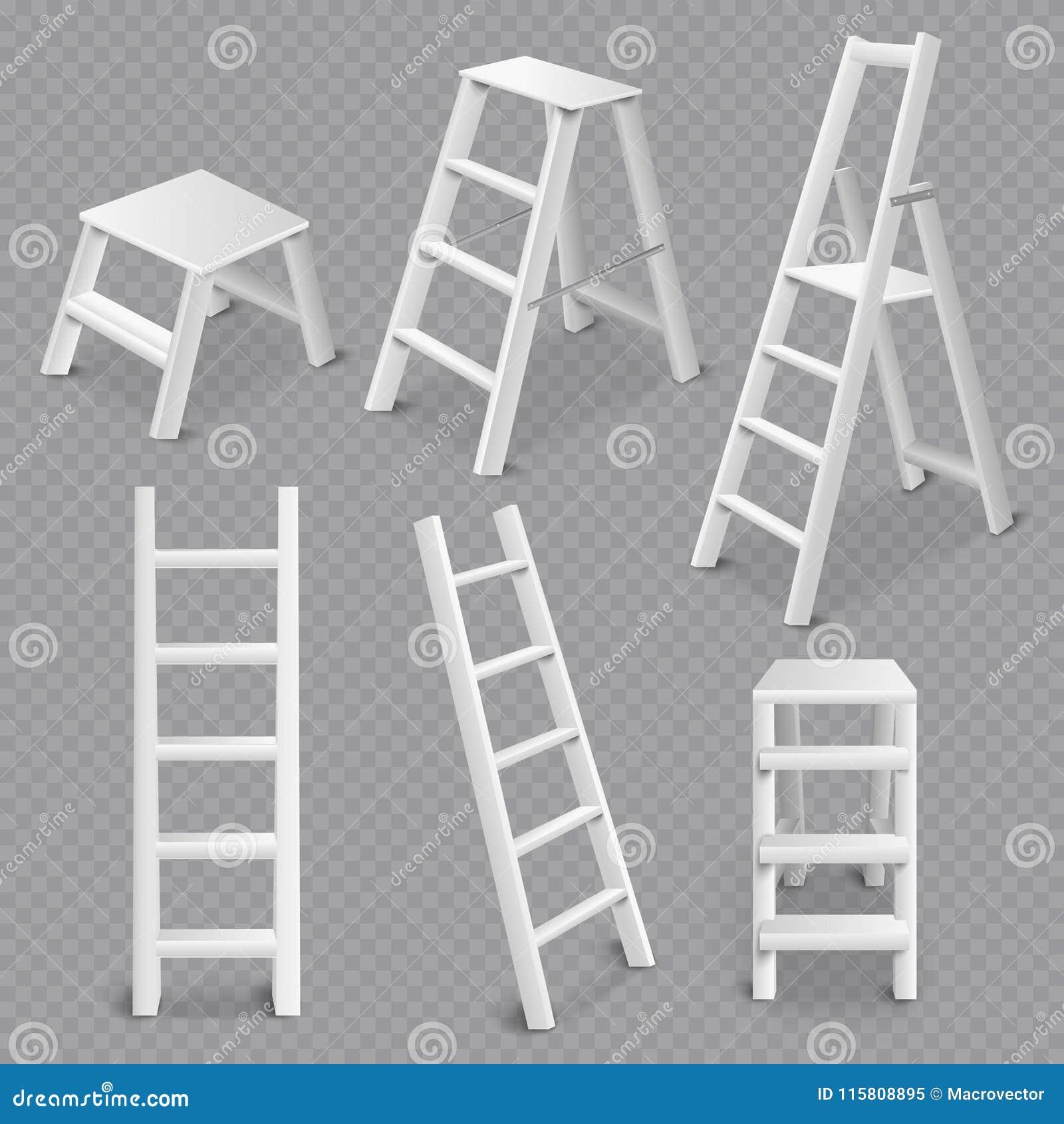 Folding Step Stool Vector Illustration Cartoondealer Com