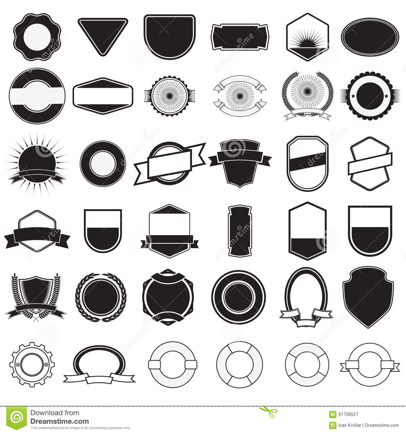 Ladels And Badjes Generator Stock Vector Image 61706527