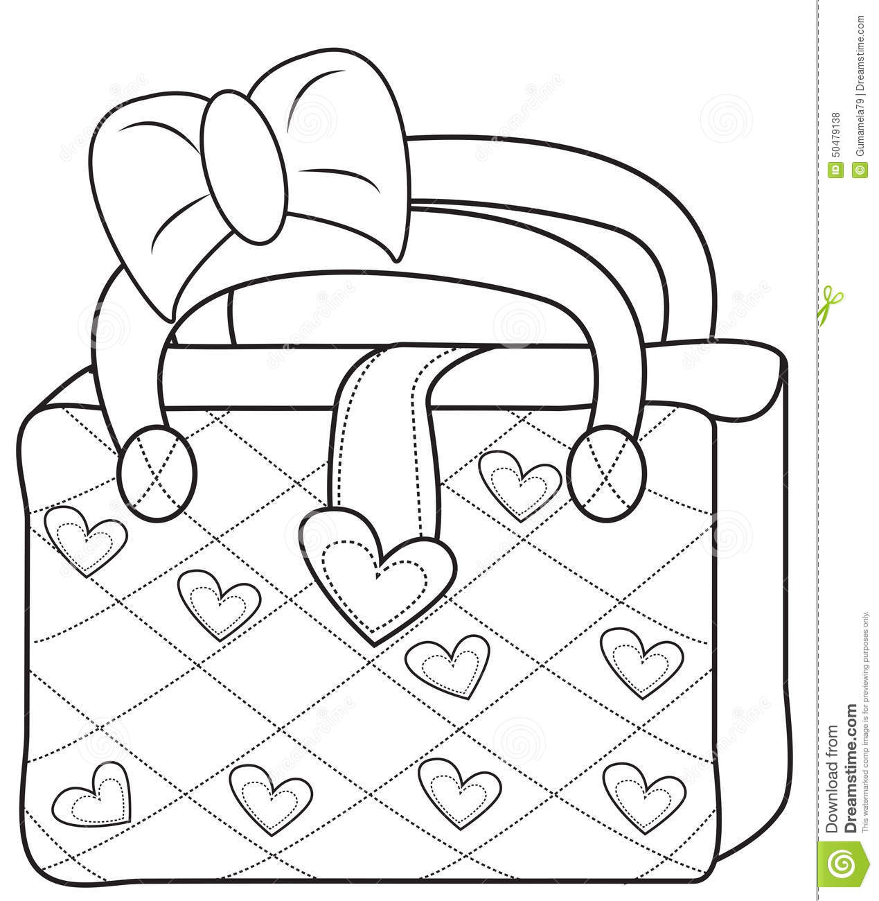 Gift Bag Coloring Page